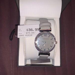 Anne Klein Leather Watch